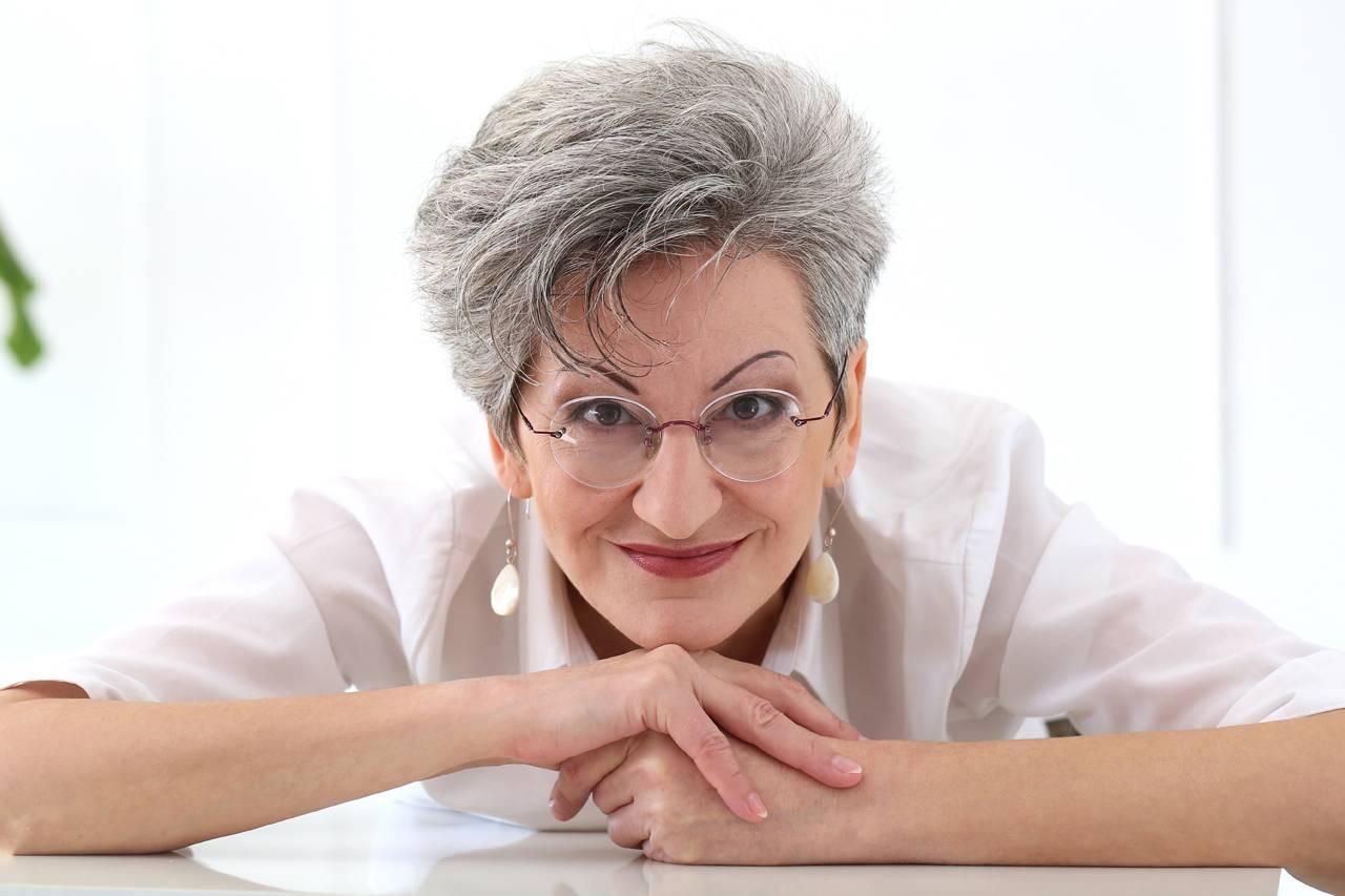 Older Woman Smiling Glasses
